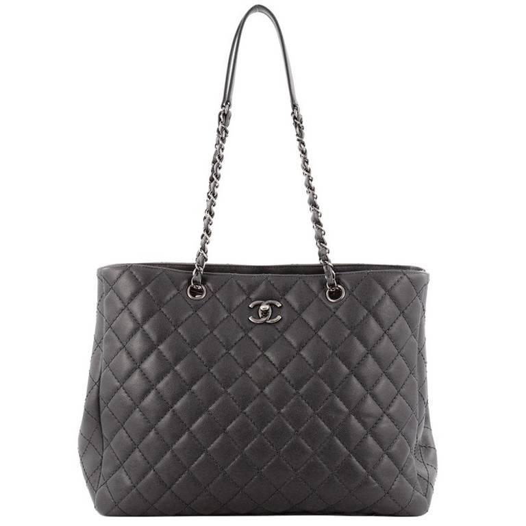 29496416effa Chanel Classic CC Shopping Tote Quilted Calfskin Large at 1stdibs