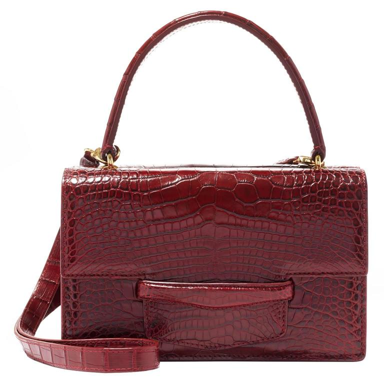 Lorry Newhouse Crimson Alligator Double Bag