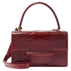 Alligator Double Bag - Crimson