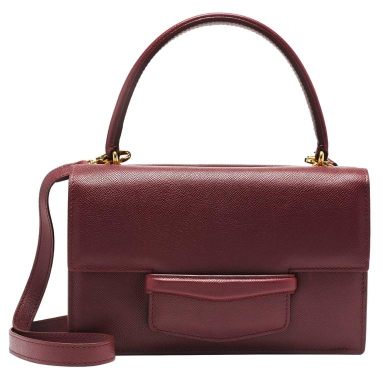 Lorry Newhouse Pebbled Leather Bordeaux Double Bag