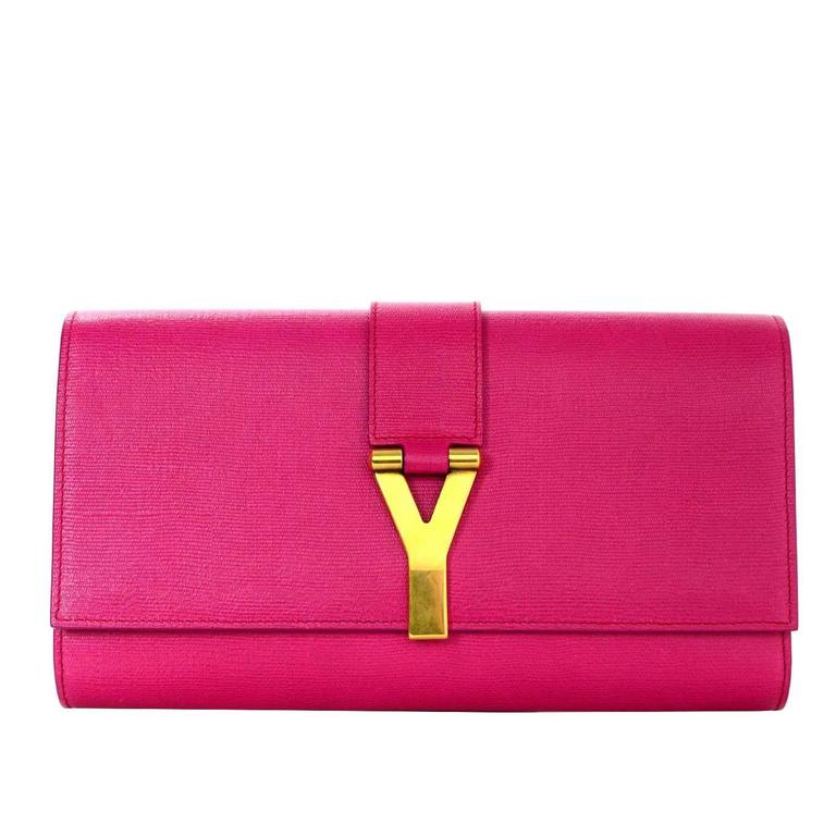 Yves Saint Laurent Pink Classic Cabas ChYc Clutch Bag For Sale at 1stdibs dab43db380109