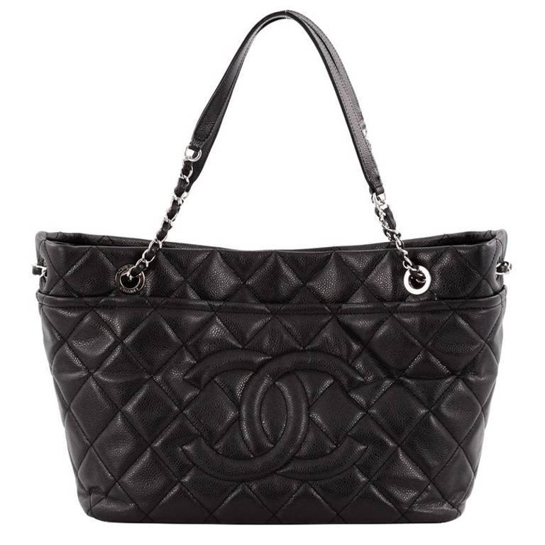 3344d68c5c12 Chanel Timeless CC Soft Tote Quilted Caviar Large at 1stdibs