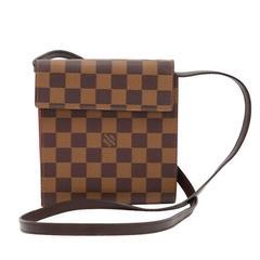 Louis Vuitton Ebene Damier Canvas CD Case Holder + Strap