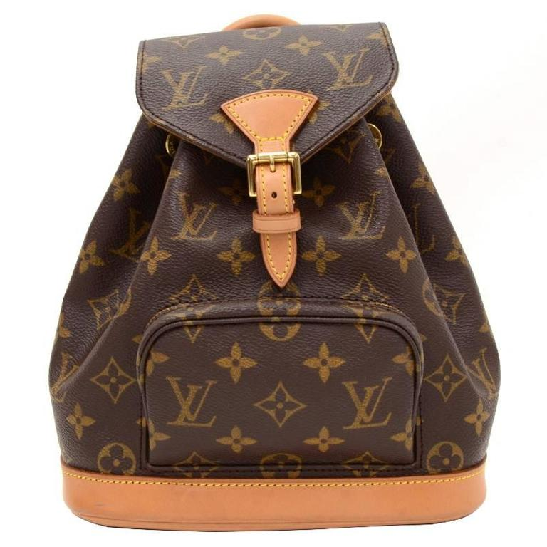 Louis Vuitton Mini Montsouris Monogram Canvas Backpack Bag 1