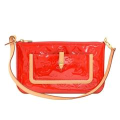 Louis Vuitton Mallory Square Rouge Red Vernis Leather Pochette Accessories Bag