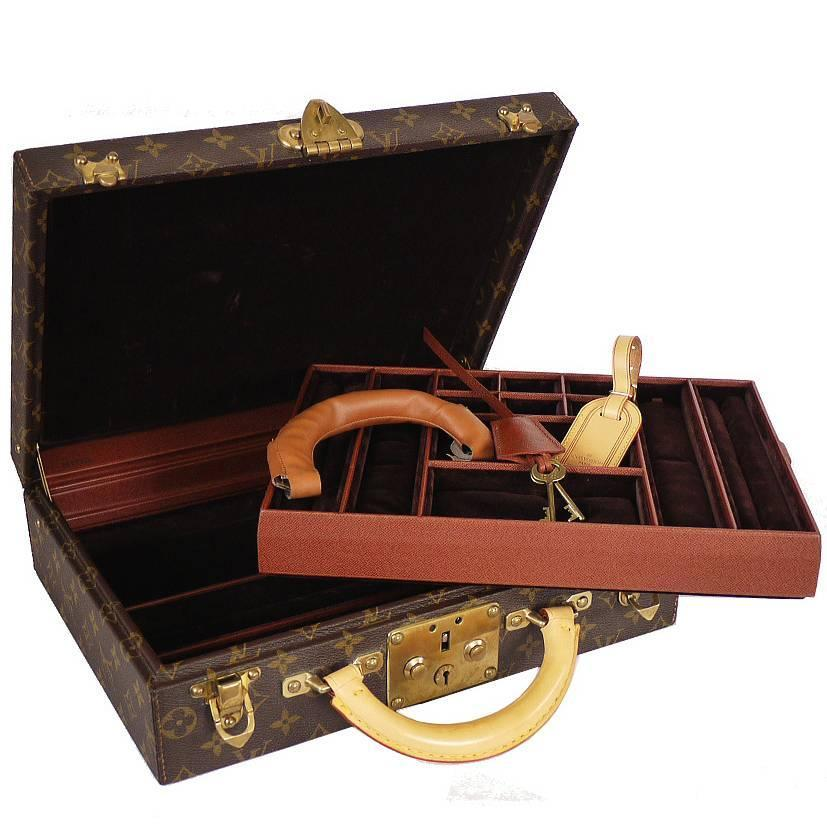 Louis Vuitton Monogram Jewellery Case Trunk M47120 For Sale at