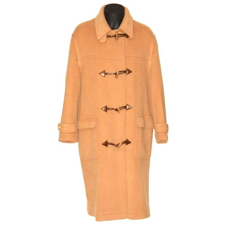2fd2d3b614f Yves Saint Laurent Rive Gauche Timeless Men Duffle Coat - Camel Wool -  Vintage For Sale