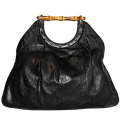 Free Shipping: Uber-Rare Tom Ford Gucci SS2004 Black Studded Leather Runway Bag!