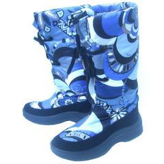 Emilio Pucci Bold Nylon Print Ski Boots Size 40