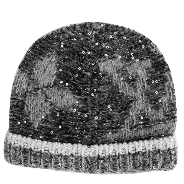 6957bb05b93 Louis Vuitton NEW Black Gray Monogram Flower Sequin Men Women Unisex Winter  Hat For Sale