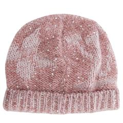 Louis Vuitton NEW Pink Monogram Flower Sequin Men Women Unisex Winter Hat