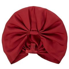 Valentino NEW & SOLD OUT Red Burgundy Silk Turban Beanie Beret Wrap Hat