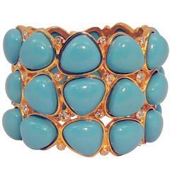 Kenneth Jay Lane Faux Turquoise Cuff Bracelet