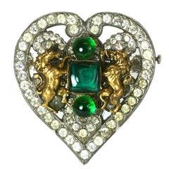 Coco Chanel Byzantine Heart Crest Brooch