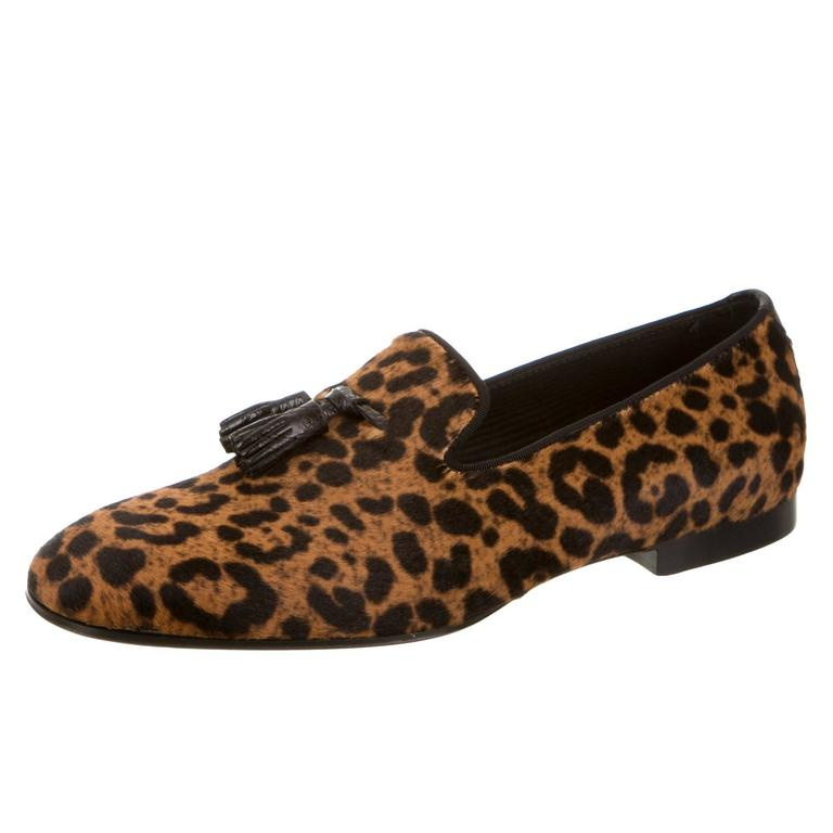 I Gaelle Sparkle Loafer Flats Warm Taup Leopard 7 5 Us Display