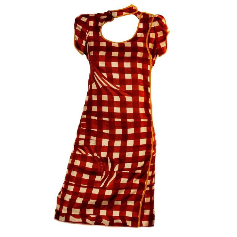 Stunning Prada Printed Pleated Silk Dress 1