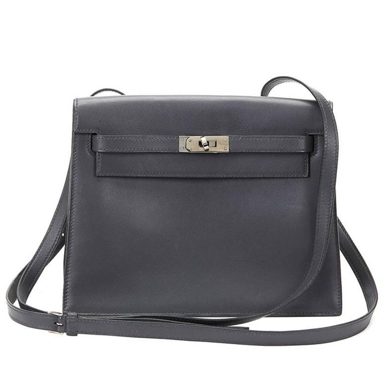 d560df6f397c 2000s Hermès Ardoise Grey Swift Leather Kelly Danse For Sale.