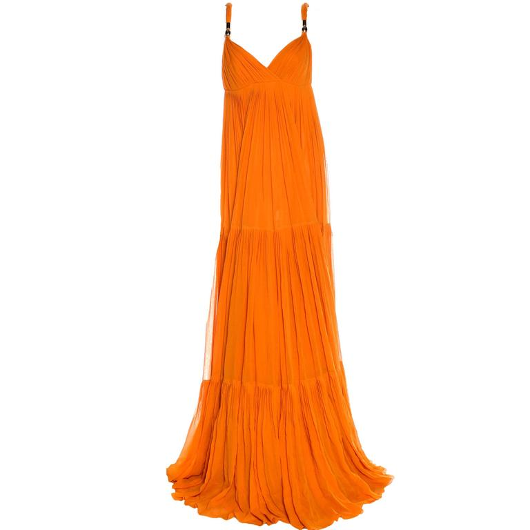 Blake's Stunning Gucci Plissee Evening Gown Dress For Sale