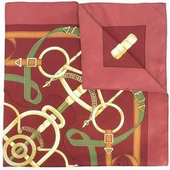 Hermès Eperon d'or vintage scarf 1974