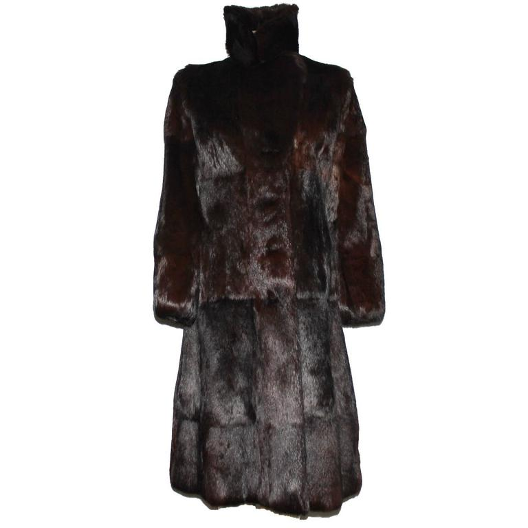 A very rare Gucci by Tom Ford Fall 2004 Fur Coat Final Collection