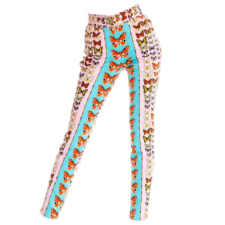 Gianni Versace Couture Iconic Butterfly Jeans For Sale