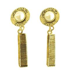 Moschino comb earrings, 1990s