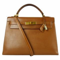 Hermès Gold Epsom Kelly 32Cm Bag
