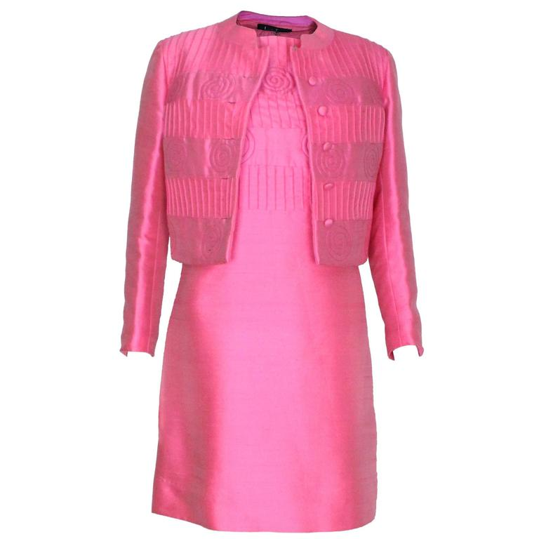 5a7d63bbac Pink Dress and Jacket by Louis Feraud for Rembrant For Sale at 1stdibs