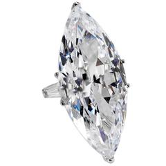 The Jackie O Faux Lesotho 40 Carat Marquise D Color Diamond Ring Copy