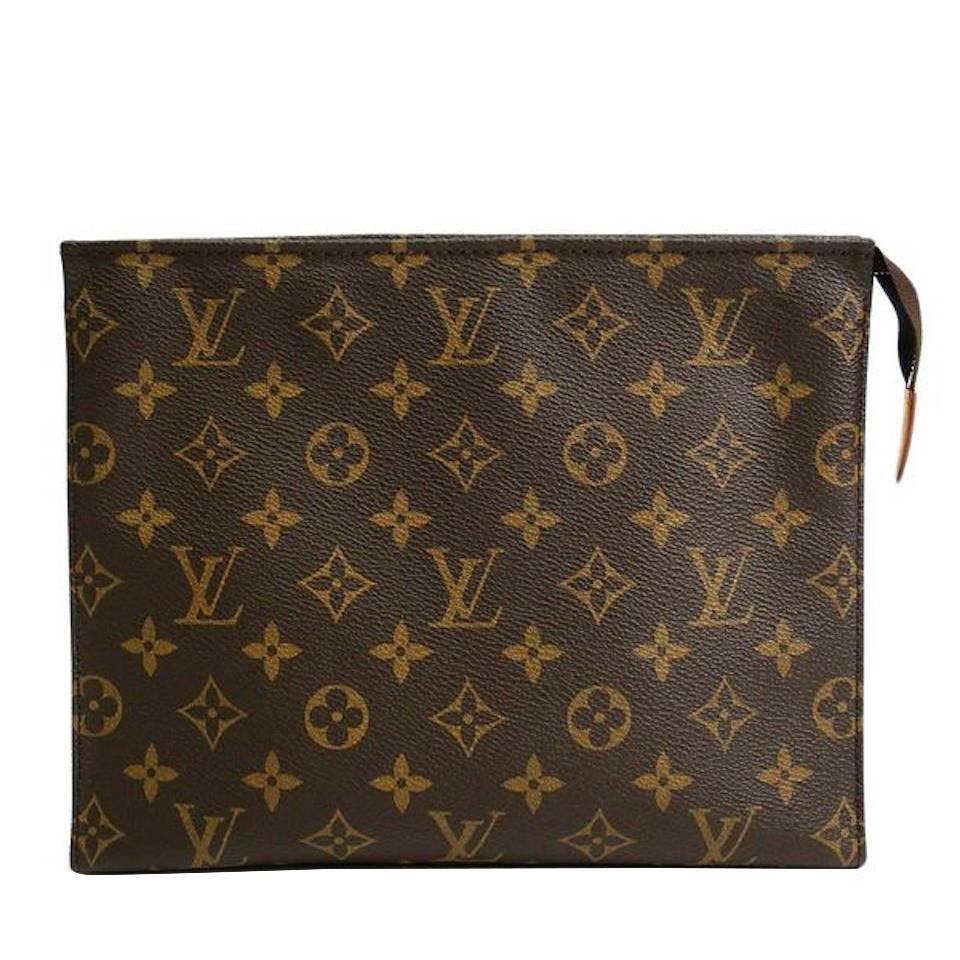 louis vuitton monogram canvas men u0026 39 s unisex carryall storage travel clutch bag at 1stdibs