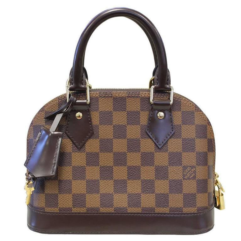 f7656e999632 Louis Vuitton Alma BB Damier Ebene Handbag in Box with Receipt For Sale
