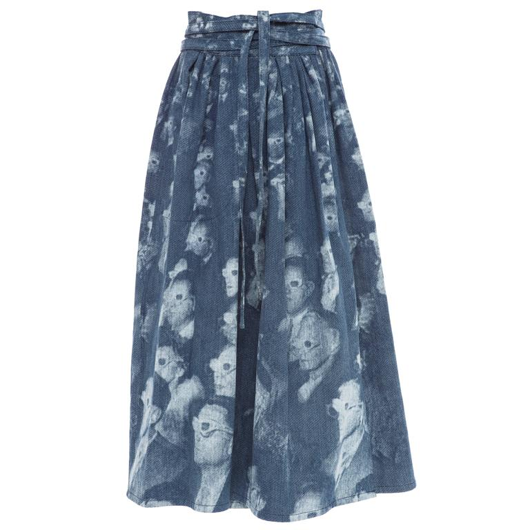 marc printed denim wrap skirt summer 2016