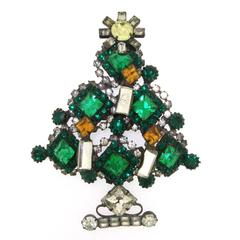 Rare Large Christmas Tree Brooch by Lawrence Larry Vrba