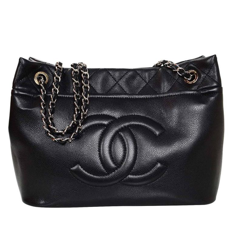 cf88dff0670ebe Chanel Black Caviar Leather Timeless CC Tote Bag For Sale at 1stdibs