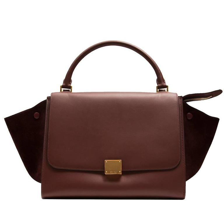 Céline Brown Trapeze Bag