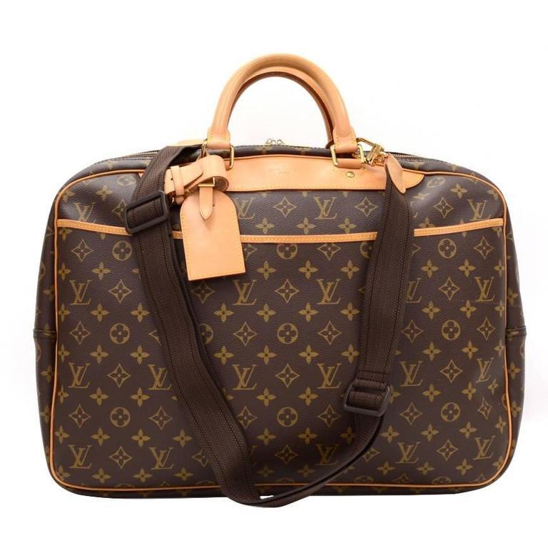 Vintage Louis Vuitton Alize 24 Heures Monogram Canvas Travel Bag Strap For
