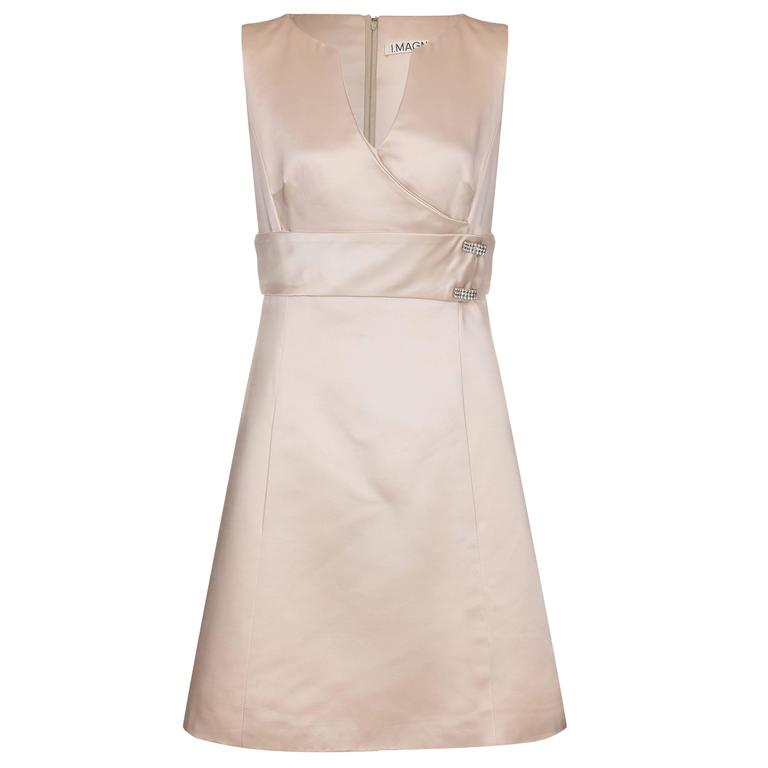 1960s I. Magnin Cream Silk Dress