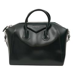 Givenchy Antigona Medium Calfskin Duffle Shoulder Bag, Green