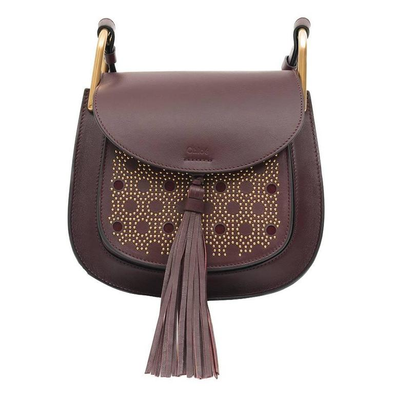 Chloe Studded Bag Hudson Small Dark Purple 3S1219-H9H 1