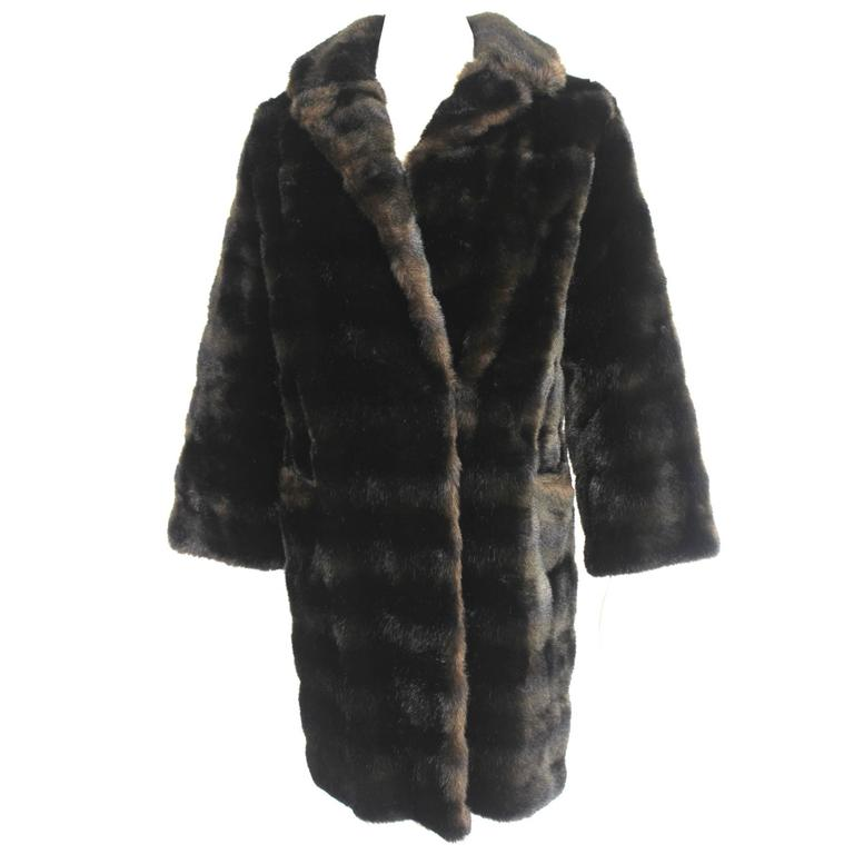 Vintage French Faux Fur Coat made in England