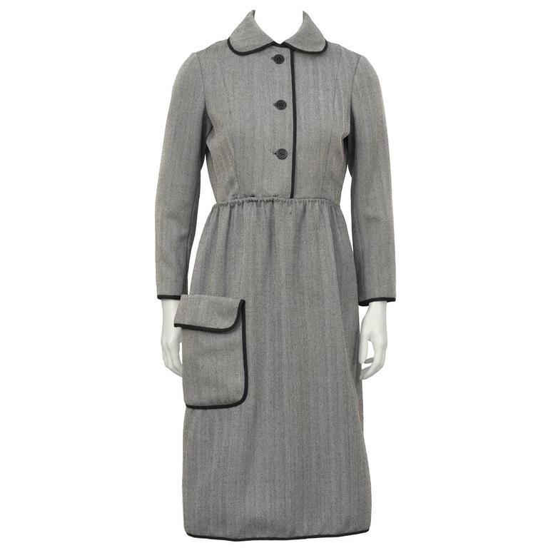 1960's Geoffrey Beene Herring Bone Dress