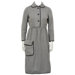 1960's Geoffrey Beene Herring Bone Dress