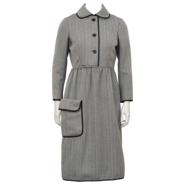 1960's Geoffrey Beene Herring Bone Dress  For Sale