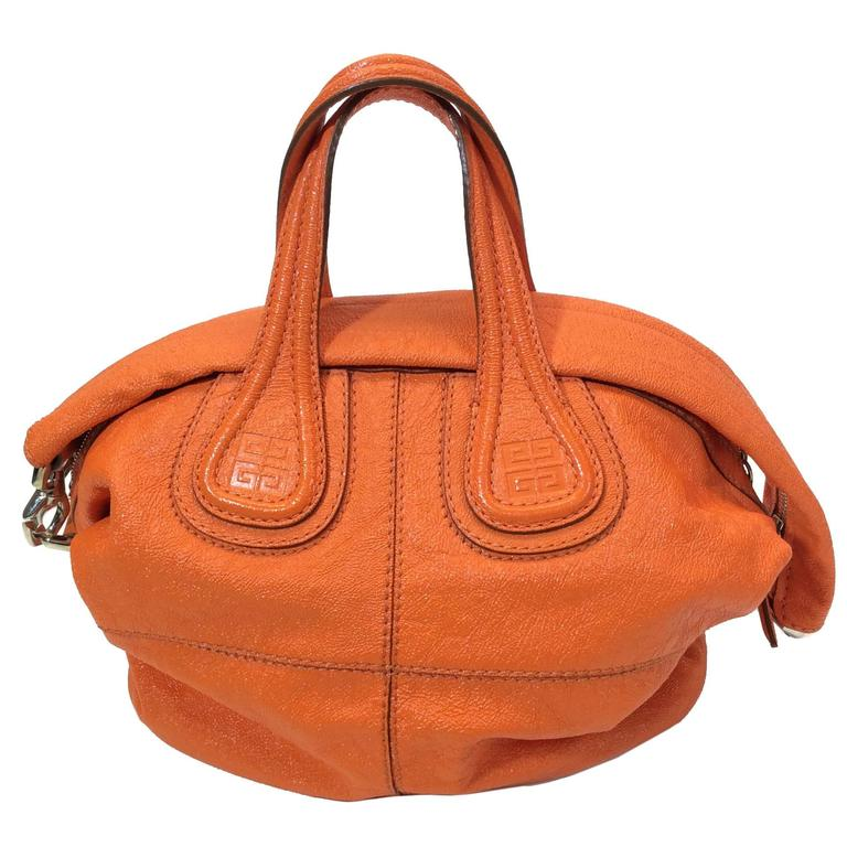 cd5957a55cfb Givenchy Ivory Tinhan Ostrich Leather With Two Side Zippers Hobo Bag.  HomeFashionHandbags and PursesShoulder Bags. Givenchy Orange Leather Hobo  Bag For Sale