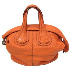 Givenchy Orange Leather Hobo Bag