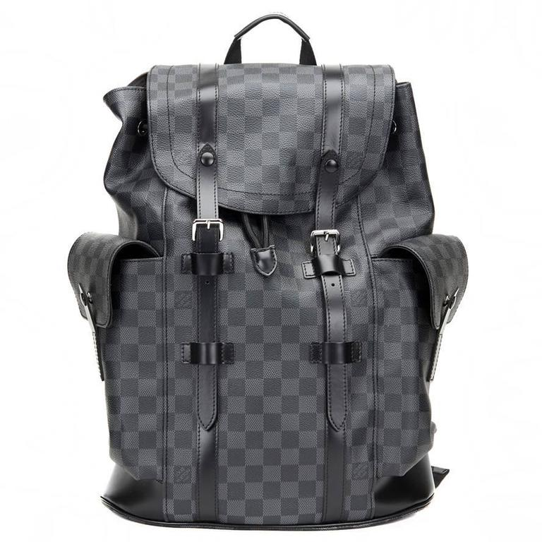 aed16273032 2016 Louis Vuitton Graphite Damier Canvas Christopher PM