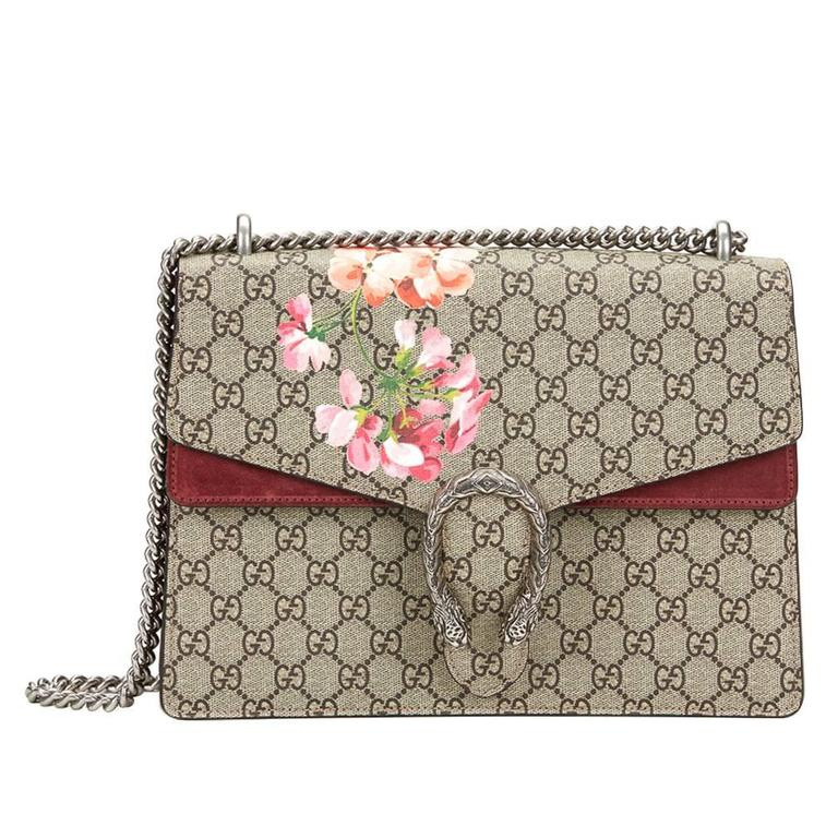 a23f2074643df5 2016 Gucci GG Supreme Blooms Print Medium Dionysus For Sale.