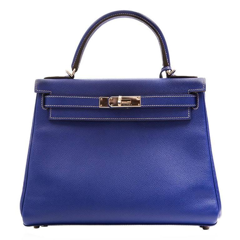 Kelly Blue Iris 25 cm Handbag 1