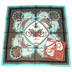 Hermes Silk Scarf New Springs Rybaltchenko 90 cm Matching Gigt Box