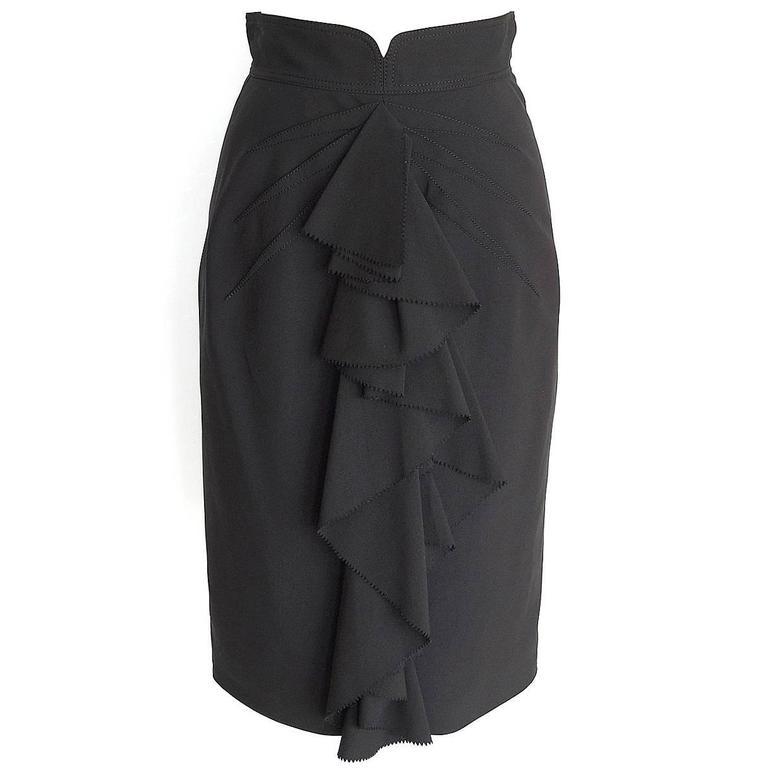 ZAC POSEN Skirt Beautifully Styled Ruffled Pencil 4 nwt